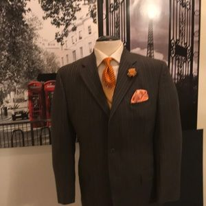 3 buttons wool suit